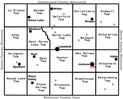 Maps jackson county mn genweb google map of jackson county interactive mape buttons on map to navigate or click view larger map publicscrutiny Image collections